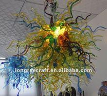 Multi Colored Blown Glass Chandelier