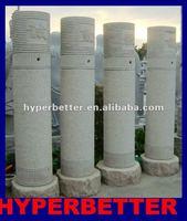 Granite stone gate pillar
