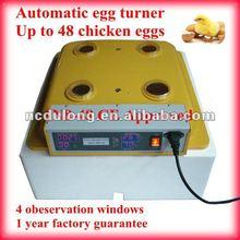 2012 CE approved chicken egg incubator for 48 chicken egg