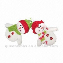 Red And Green Cute Snowman Christmas Tree Ornament