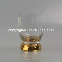 gold plated decorated Dof water glassware