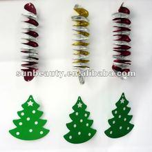 foil decoration snowing christmas tree