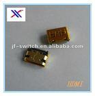mini female usb to HDMI connector