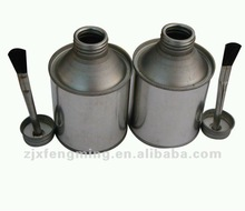Pvc adhesive,tinplate cans for tire repairs,metal screw cap with brush