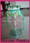 High quality waterproof pvc gift barrel bag with drawstring and full colors printing from professional manufactory