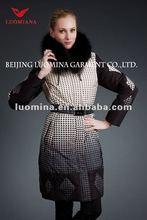Fashionable silver blue long mink coat
