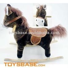 Mechanical wooden rocking horse