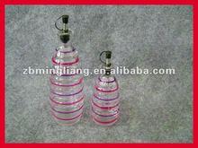 glass condiment bottles for oil or vinegar
