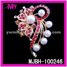 2012 new design color rhinestone brooch for hair decoration