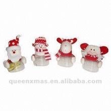 Santa Snowman Bear Angel Plush Christmas Candy Container