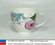 footed fine bone china mug