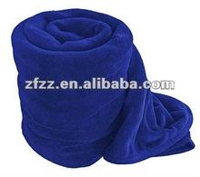 Super soft plain dyed coral fleece blanket