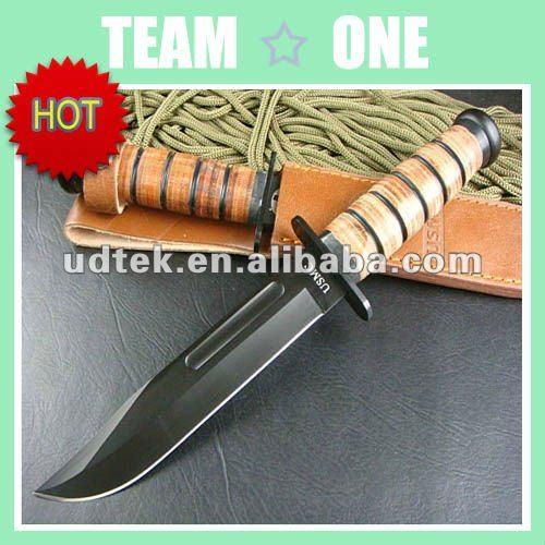 Kabar oem 1217 tüm bıçak macun bıçak şef bıçağı deri saplı