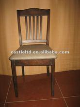 Rubberwood Modern dark brown dining chair