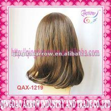Fashion half-curly fake hair wig