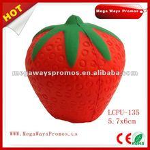 Strawberry Shape PU Stress Toy