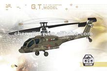 Novo 4 canais único blade apache rc helicóptero