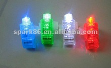 assorted finger glow led lights w/silicone attachment