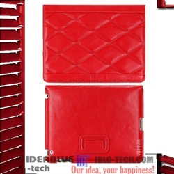Red SMART COVER FOR FOR IPAD 2 with Ultra thin pu leather custom made