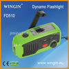 FD510 LED Dynamo Solar USB Light Radio,Charge for phone
