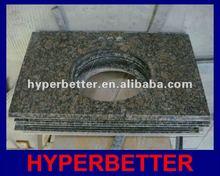 Bathroom countertop tan brown granite