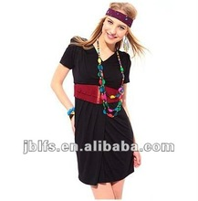 2012 ladies black belt fashion long skirts
