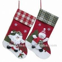 Christmas Family 2 Asst Santa Snowman Felt Christmas Stocking