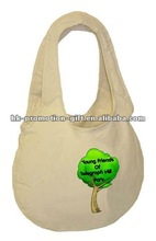 100% organic cotton canvas tote bag for shopping or promotion