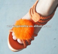2012 feather round ball shoe accessory shoe clips
