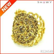 2012 new design gold diamond rings for women