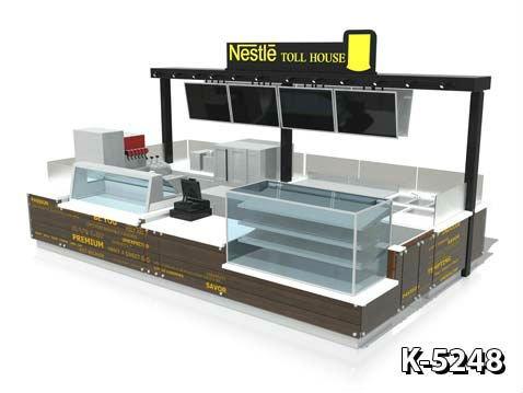 Coffee Kiosk For Shopping Mall Display Kiosk View