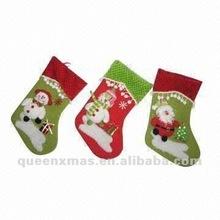 Santa Snowman Christmas Holiday Stocking