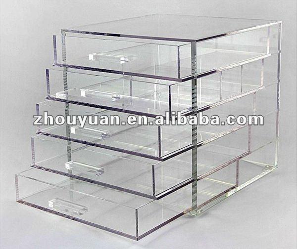 Acrylique transparent 1124mm tiroirs organisateur de - Boite de rangement maquillage acrylique ...