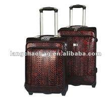 PU trolley case and luggage travel bag set upright luggage suitcase drawbar case box