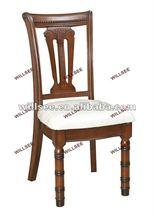 Ah-11234, antiguos de madera tallado cómoda silla con cojín