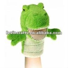 plush frog hand puppet animals