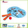 Gift wooden beach paddle ball set