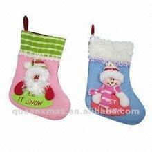 Santa Snowman Christmas Sock