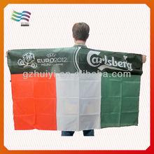 Custom made football fans body flag