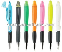 New design promotional ball pen with highlighter include logo