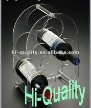 Household Acrylic 5 Wine Bottles Displays/ Custom Wine Bottle Stopper Display