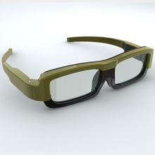 Active shutter 3d glasses for tv with folding earpieces for portable carrying