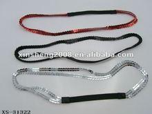 New design shinning elastic custom elastic headbands