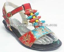 2012 new fashion new style comfotbal office women flat heels sandals lady or women shoes