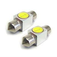 32mm 1 LED 1.5W Aluminum Festoon Dome Car Auto Light Bulb Lamps