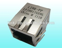 50(27)F4-135-A222-B12 Jack Connector With 10/100 BASE-T Magnetic Module , Modular Jack