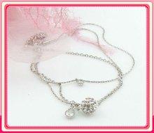 silver tear drop shambala chain charm bracelet