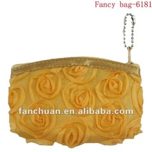 Fashion unique coin purse with rose decorated