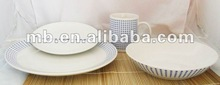 customized porcelain 16pc porcelain dinner set with decal