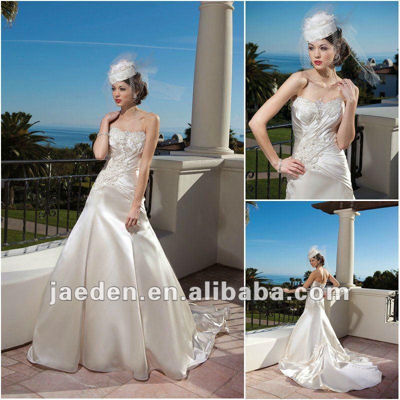 nuovo jt0032 yop corsetto color champagne abiti da sposa